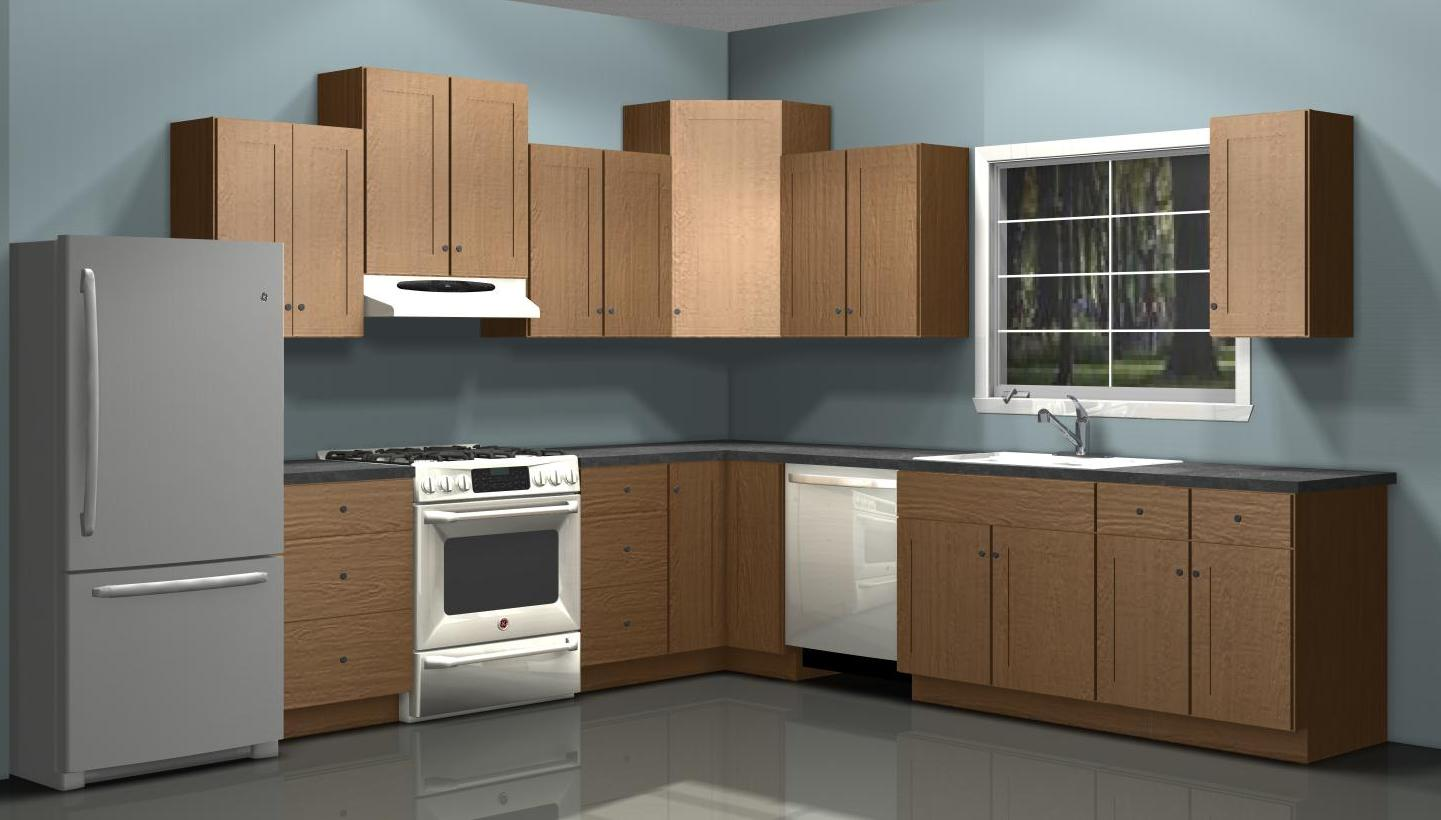 Using different wall cabinet heights in your ikea kitchen for Kitchen units on one wall