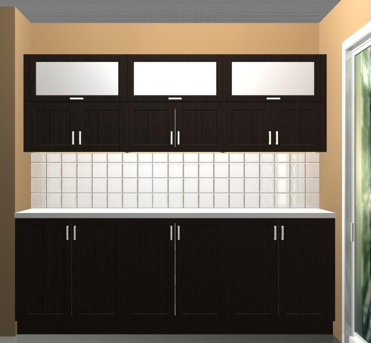 Using different wall cabinet heights in your ikea kitchen for Long kitchen wall units