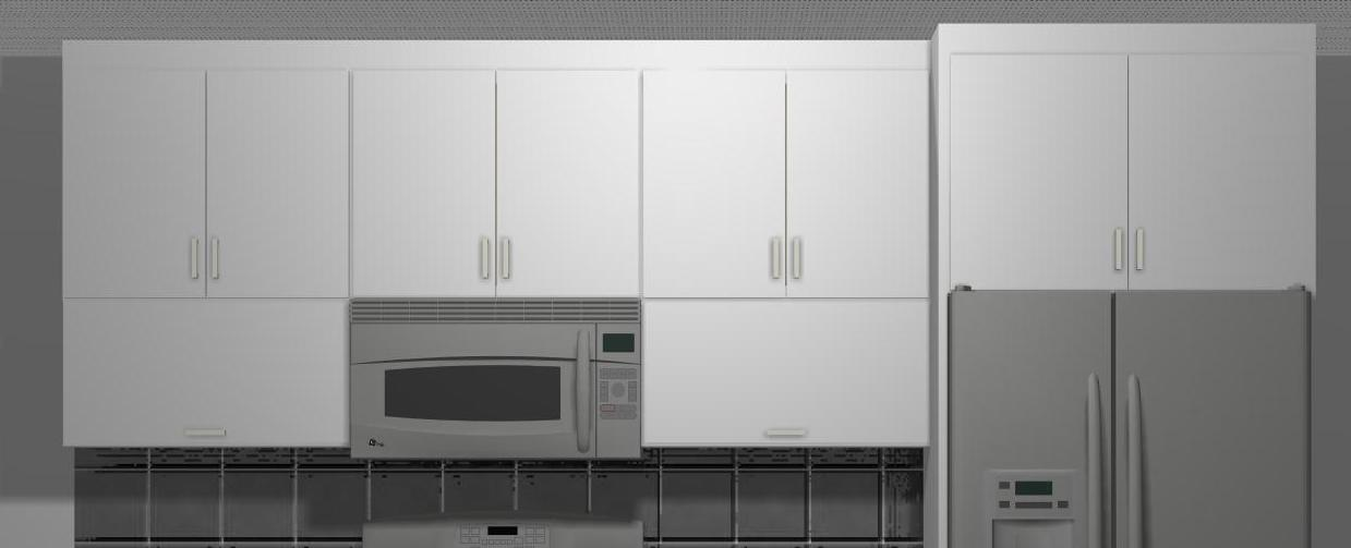 Superb For As Much As Weu0027d Like To Play With Wall Cabinet Heights Weu0027re Restricted  Because The Wall Cabinets Should Align With The Tall Towers.