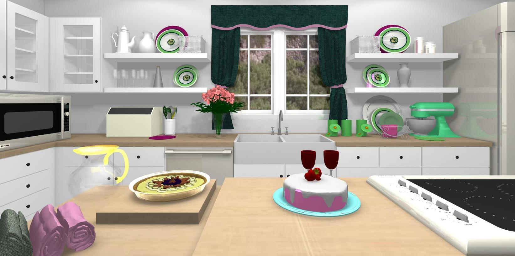 FAMOUS KITCHENS - Get the Look: Sandra Lee - TV Chef's Edition