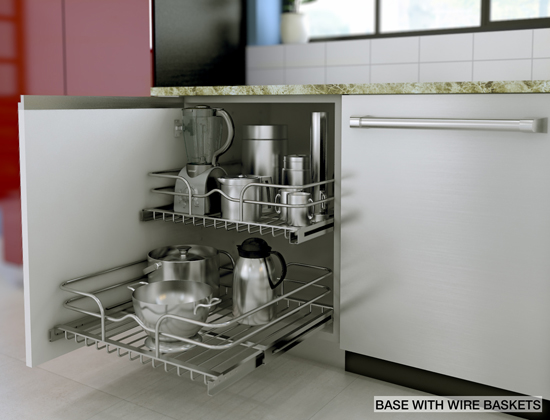 Storage solutions ikea movable wire baskets for Ikea storage cabinets kitchen