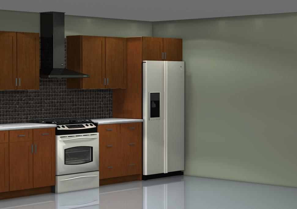 Choosing the ideal fridge location for your kitchen -> Kuchnia W Seledynie