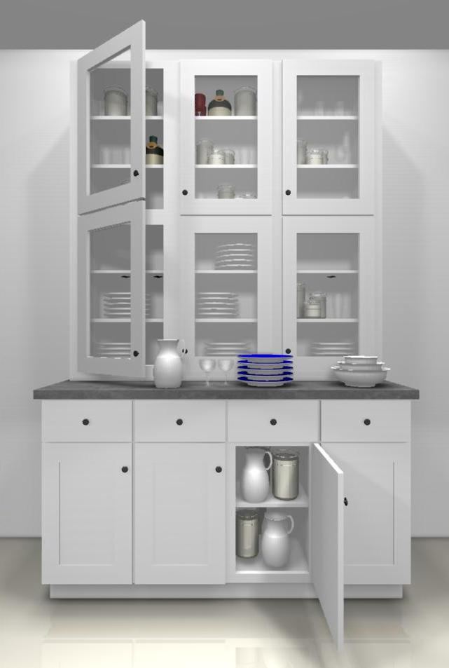 Kitchen design ideas glass doors for a china cabinet - Ikea glass cabinets ...