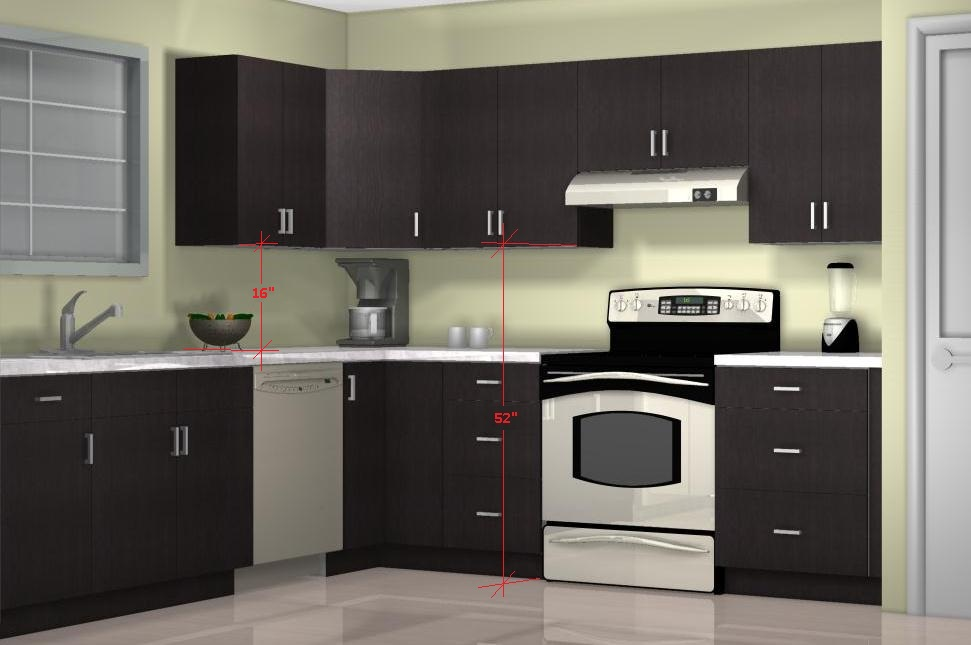 what is the optimal kitchen wall cabinet height?