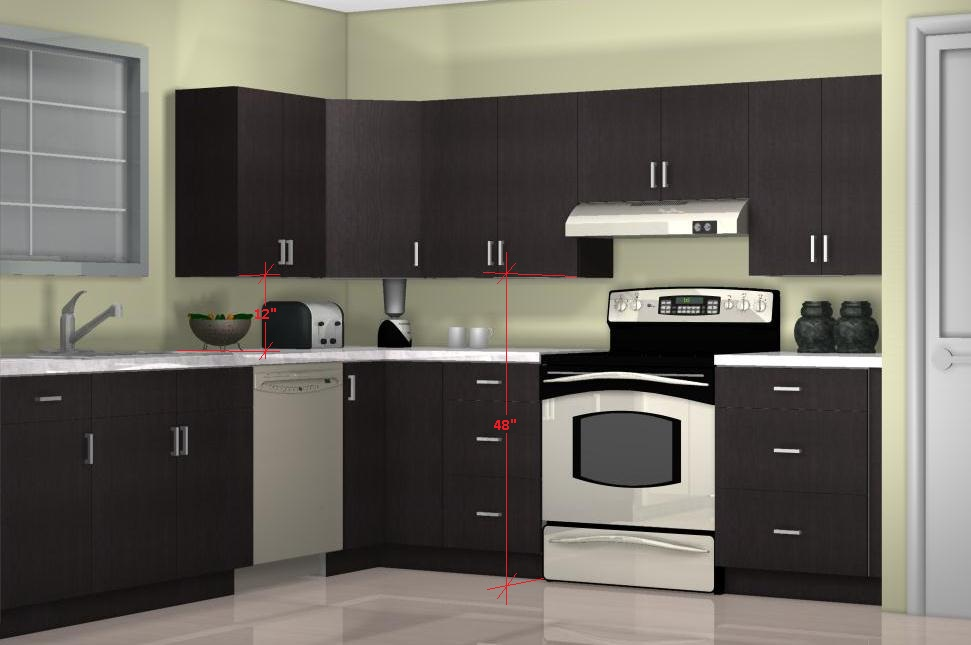 The Optimal Kitchen Wall Cabinet Height Below The Wall Cabinets