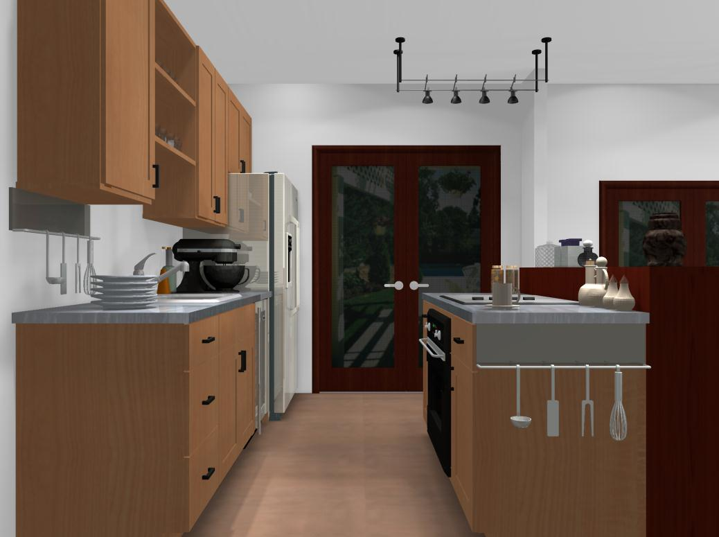 Famous kitchens get the look will and grace will truman tv homes edition - Ikea beech kitchen cabinets ...