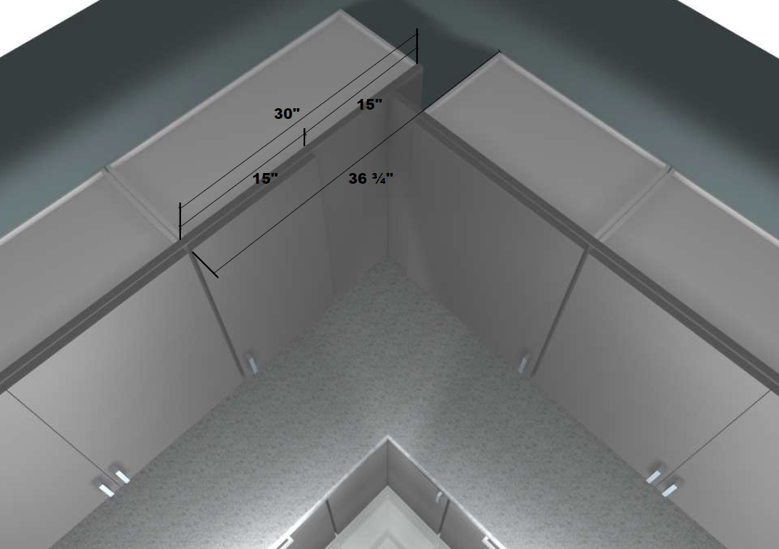 Custom kitchen corner cabinets - Top View With Measurements For A Custom Blind Wall Cabinet