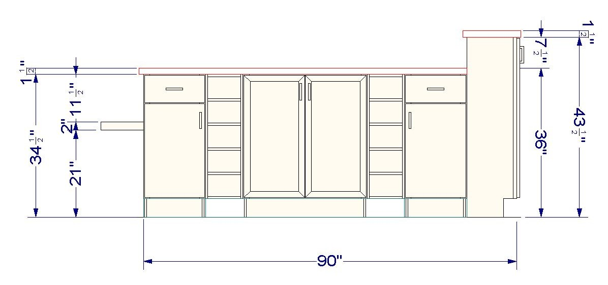 Using wall cabinets as bases for a unique kitchen island for Island cabinet plans