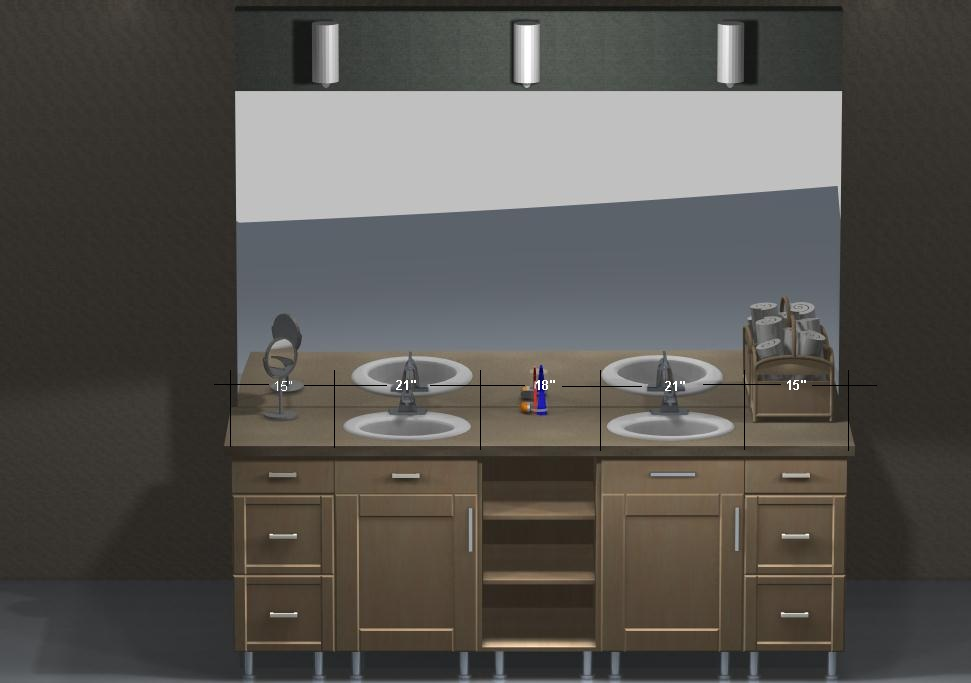 use kitchen cabinets in bathroom ikea vanities a stylish look using stainless steel legs 24469