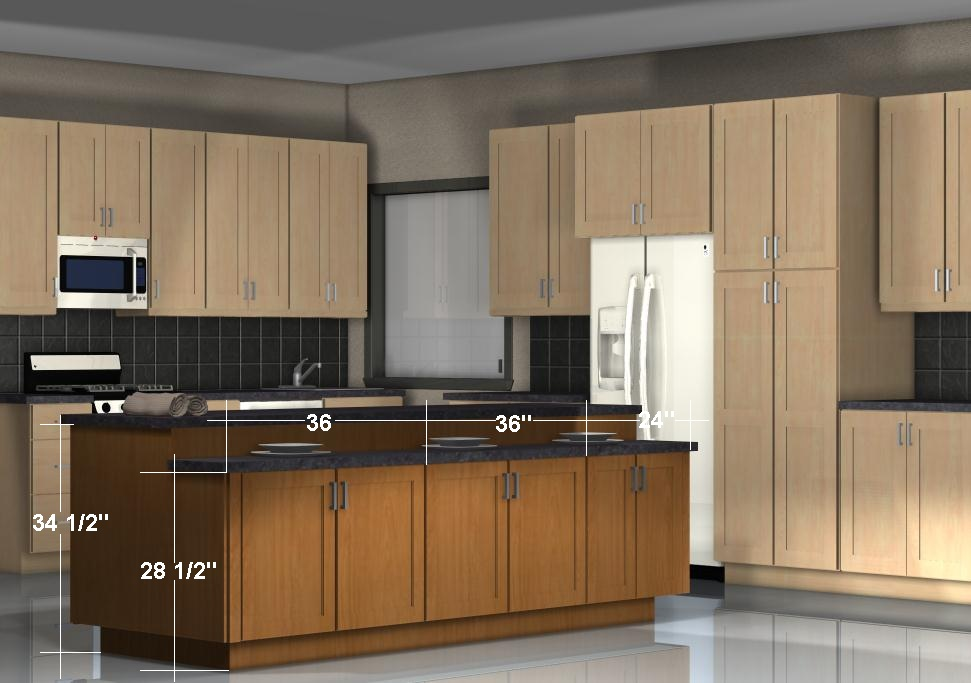 Kitchen Island Configurations: Storage on Both Sides with Different  | 971 x 683 · 112 kB · jpeg | 971 x 683 · 112 kB · jpeg