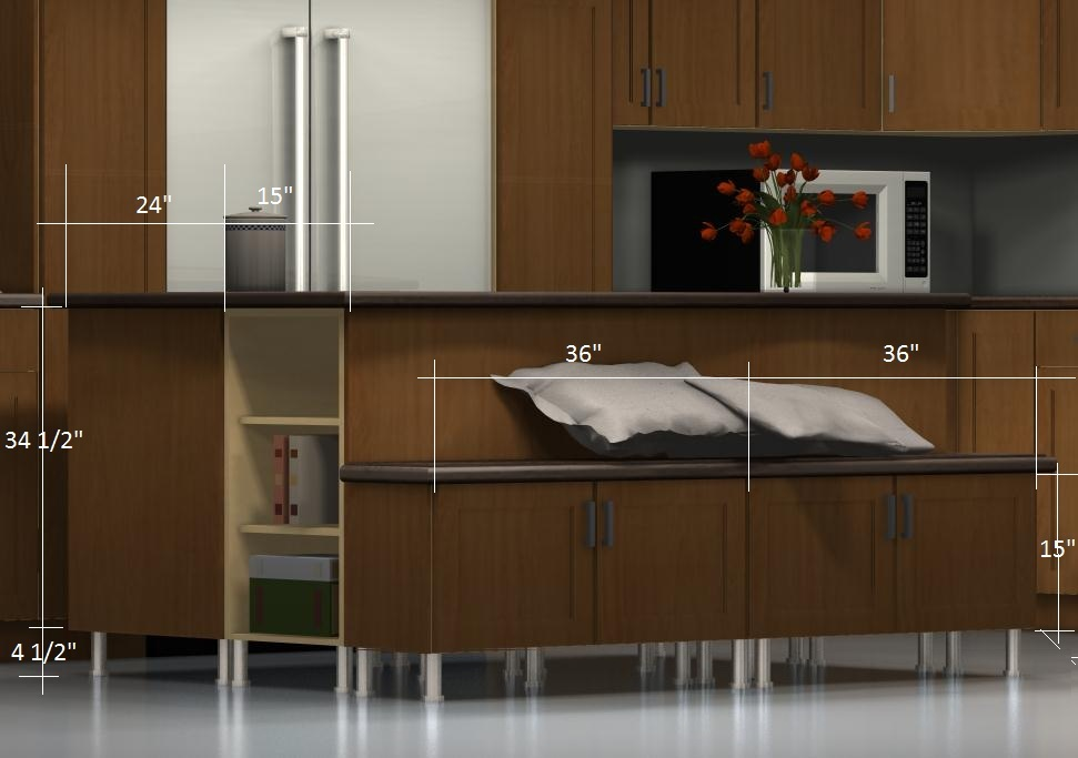 Kitchen Island Configurations A Bench On The Back With A