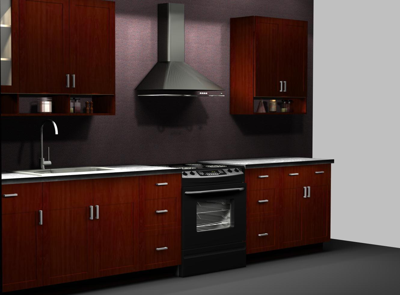 Ramsjo Red Brown With Perfekt Shelves. Itu0027s Convenient To Have Spices ...