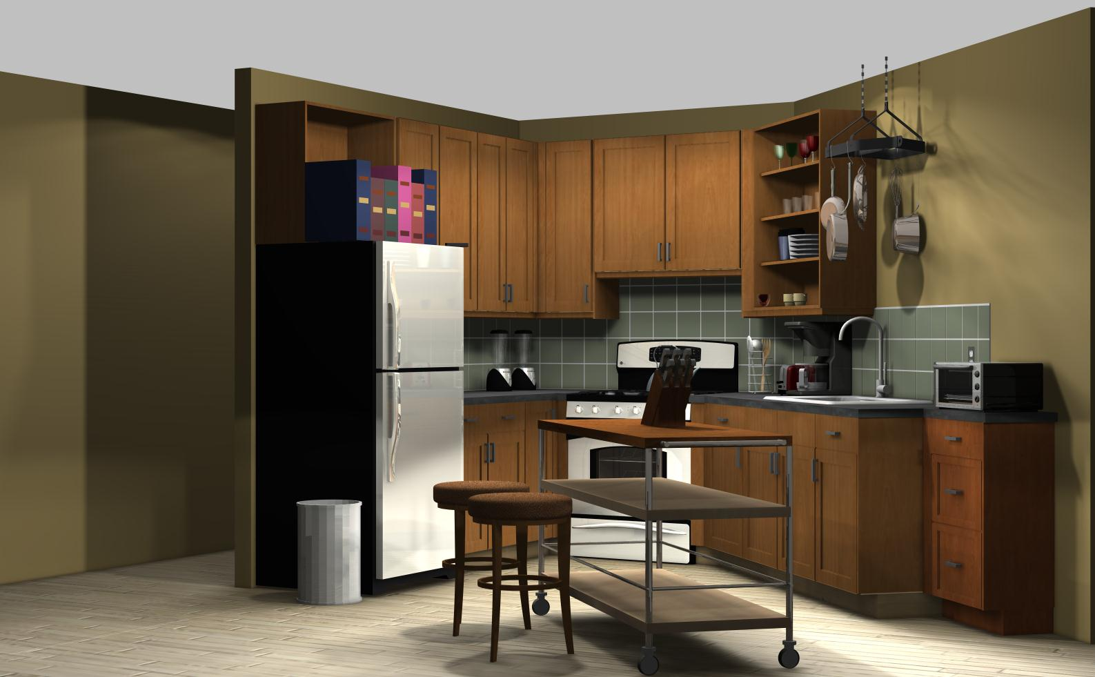 Famous kitchens get the look the big bang theory for Where to get a kitchen from
