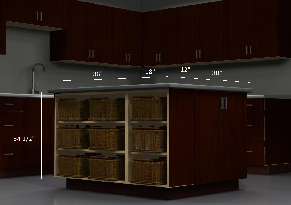 Ikea Kitchen Island With Drawers an affordable ikea kitchen island with shelves and baskets