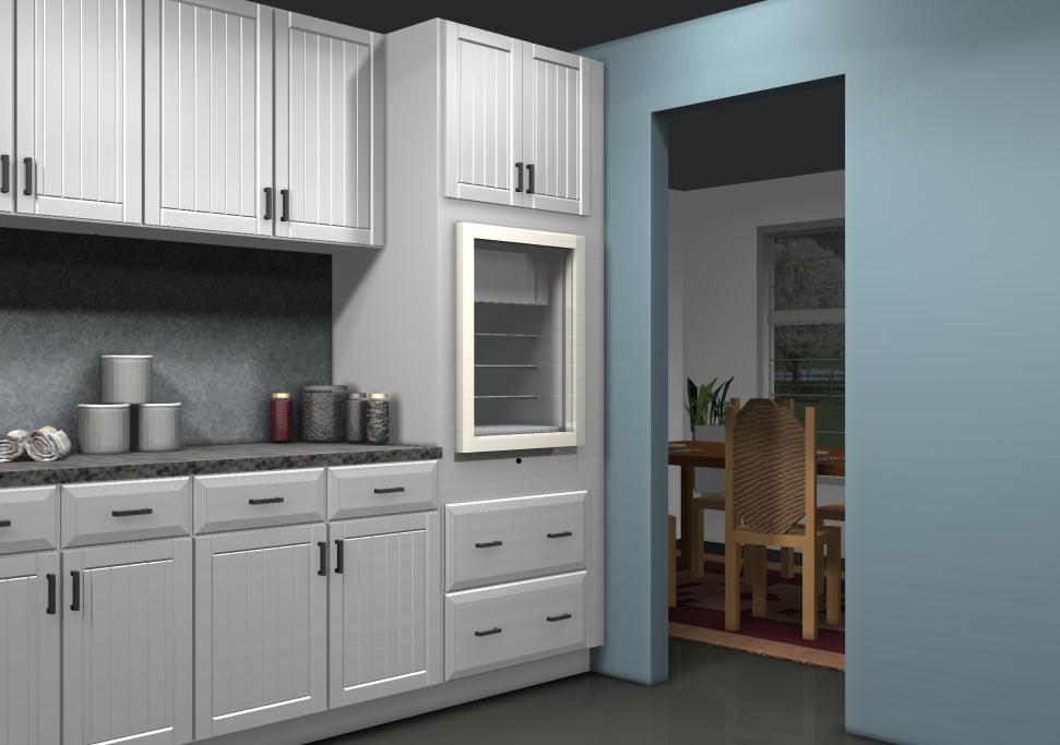 kitchen design ideas a beverage station using a wine cooler in a tall