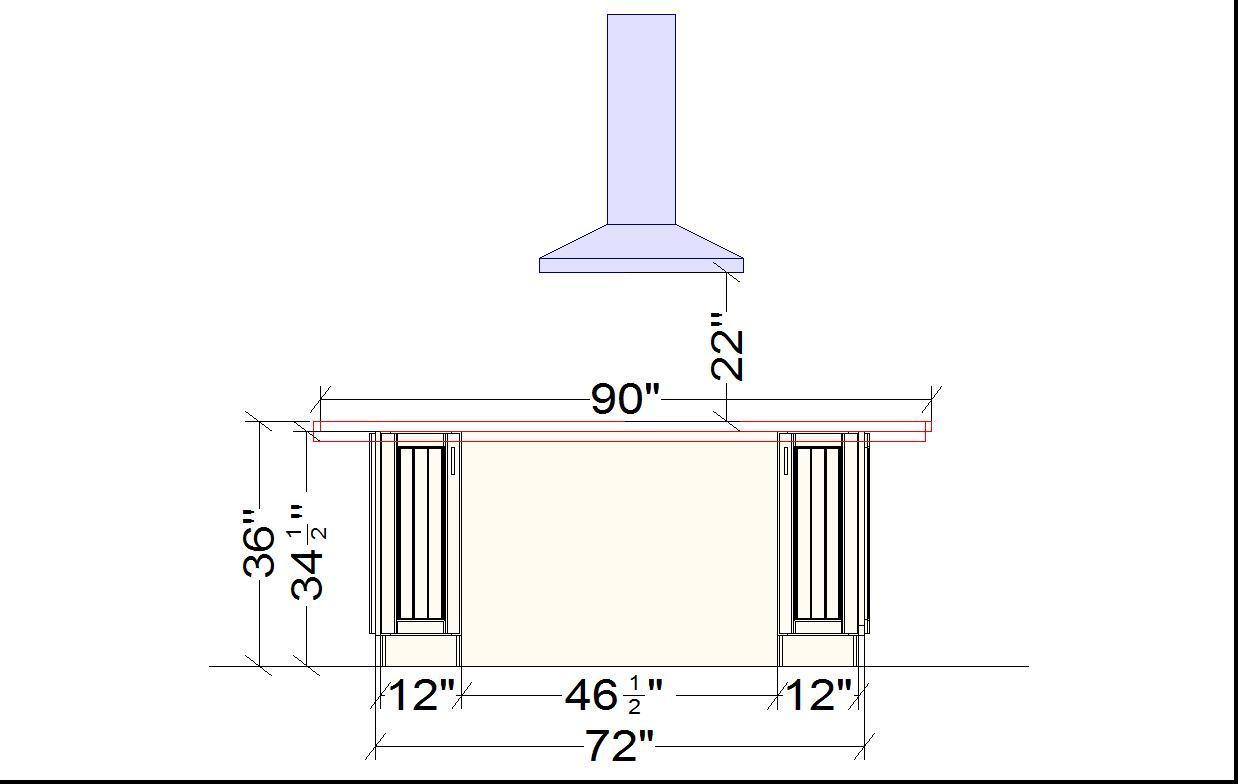 Charmant Kitchen Island Measurements