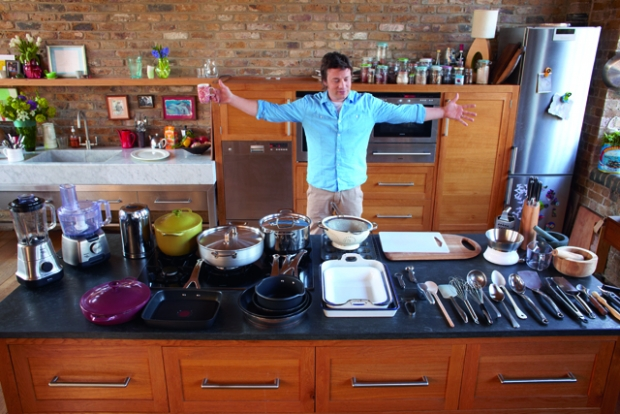 Famous kitchens get the look jamie oliver tv chefs for Jamie oliver style kitchen design