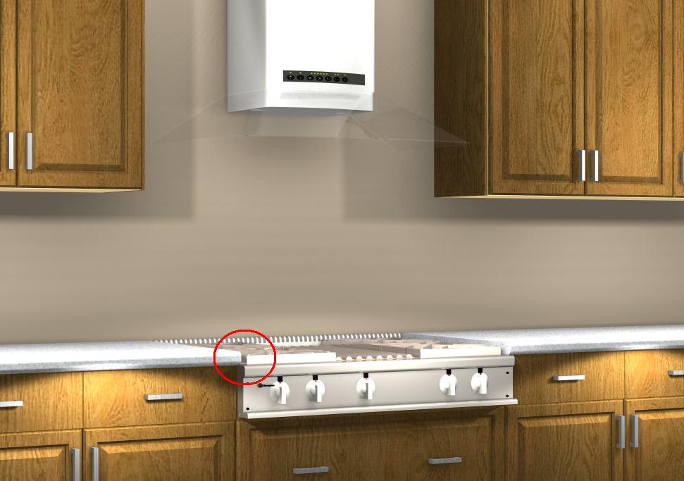 Merveilleux Common Kitchen Design Mistakes: Placing Front Controlled Cooktops Lower  Than The Countertop