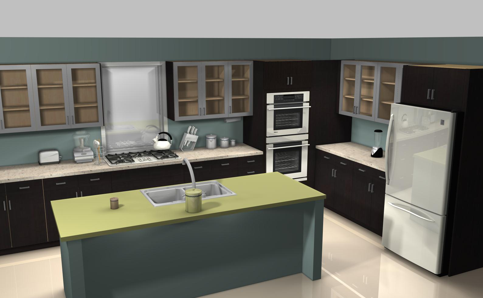 Famous kitchens get the look renee perry desperate for Renee s kitchen