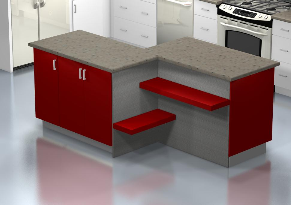 Kitchen Island Configurations A Funky Colored Island With