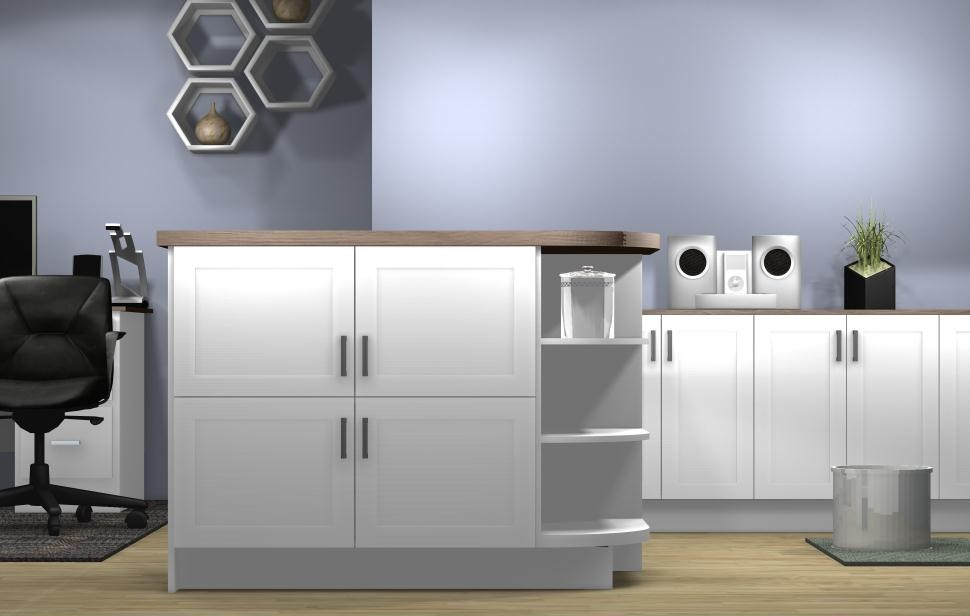 Kitchen Island Configurations Stacked Cabinets For An