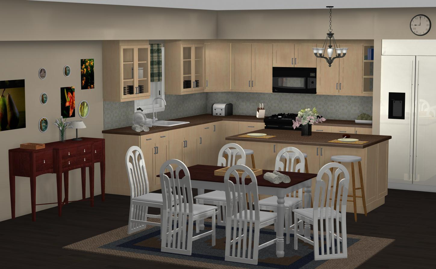Tv In Kitchen Famous Kitchens Get The Look Dunphy Household Modern Family